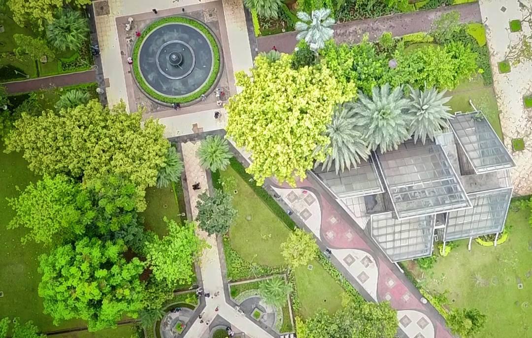 Foto udara taman menteng